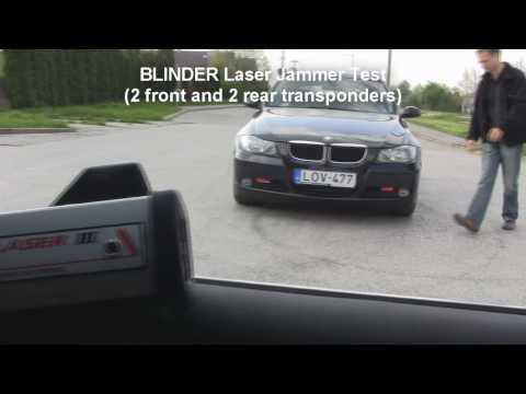 BLINDER Laser Jammer Test (2 front and 2 rear transponders)