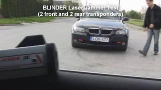 blinder laser jammer test 2 front and 2 rear transponders