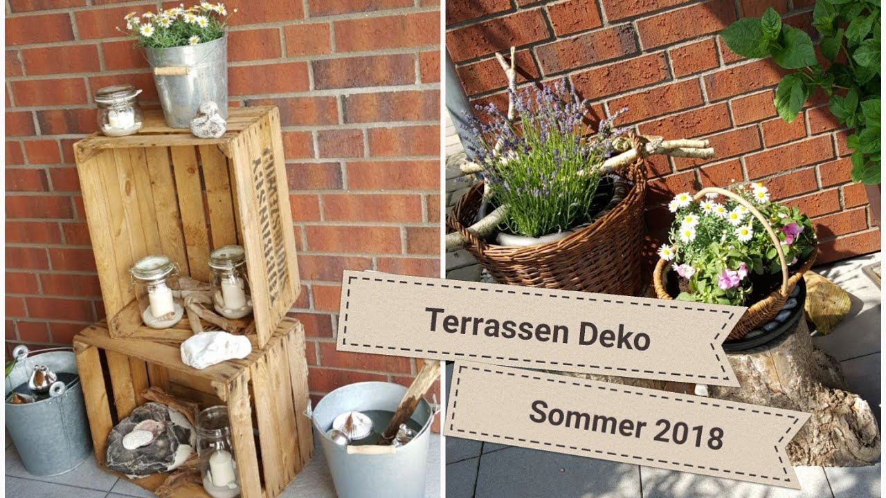 terrassen deko sommer 2018 sch ne sommer terrasse deko terrasse sommerdeko youtube. Black Bedroom Furniture Sets. Home Design Ideas