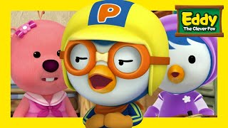 Learn Shapes &  Size with Eddy | #7 Sort and Group | Eddy the Clever Fox S2 | Pororo English