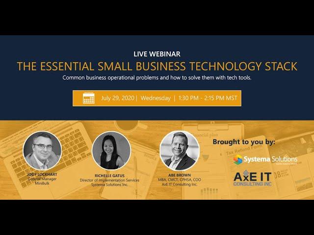 SME Business Essentials Webinar - Jody Lockhart