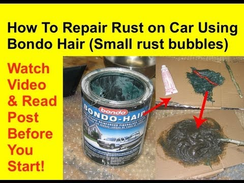 how to use hair styling products how to repair rust using kitty hair or bondo hair rust 5851