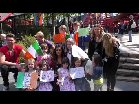 Can-Linn and Kasey at the Tivoli Gardens in Copenhagen with local Irish Families - Part 1