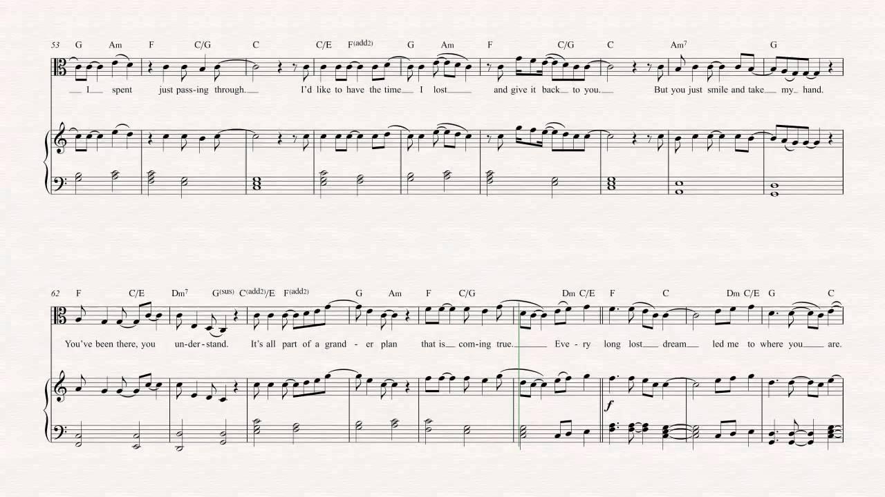 Viola Bless The Broken Road Rascal Flatts Sheet Music Chords