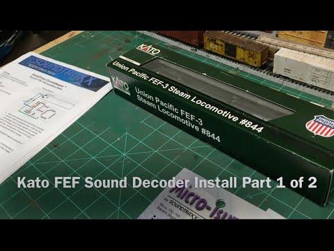 Kato FEF Sound Decoder Installation Part 1 of 2