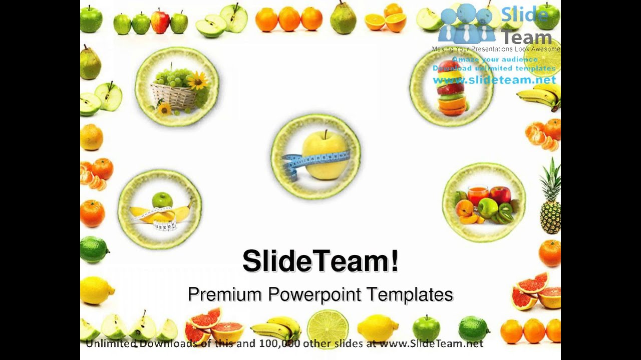 Fruit Border Food Powerpoint Templates Themes And Backgrounds