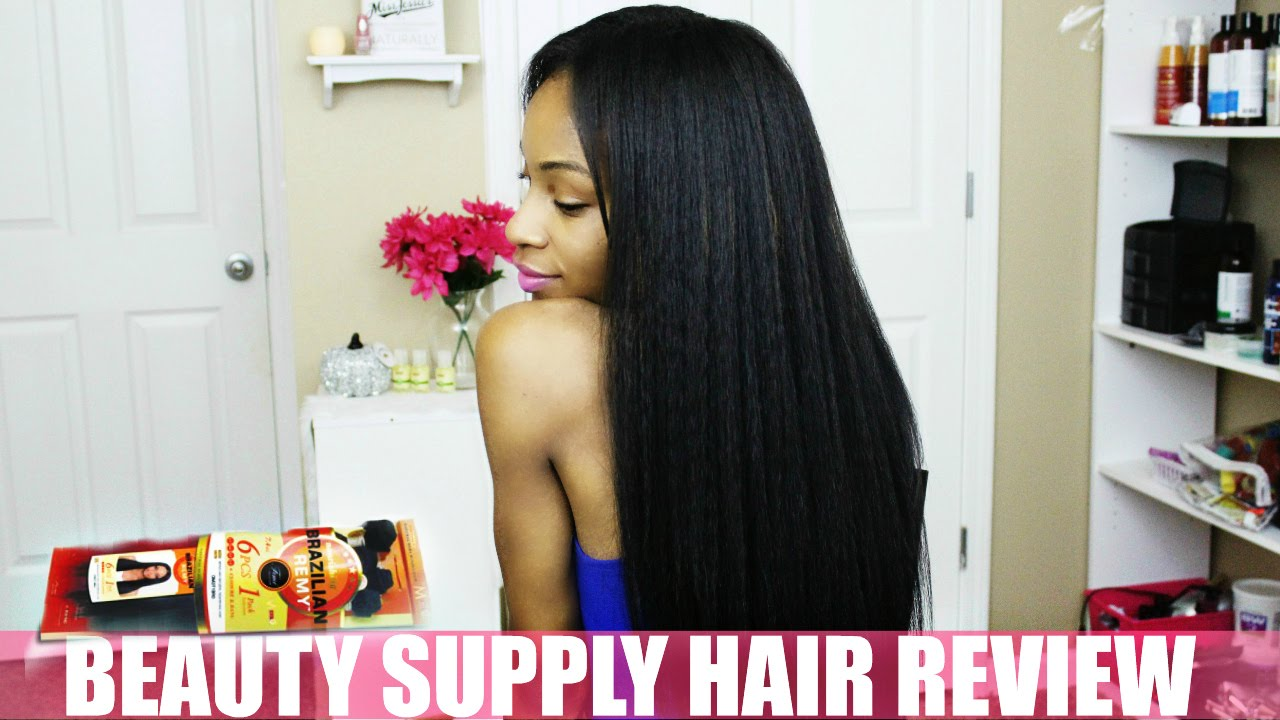 Natural Hair Kinky Straight Weave Review Femi Collection Youtube