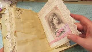 Victorian Lady and Bird Junk Journal-SOLD