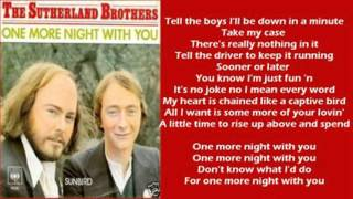 The Sutherland Brothers - One More Night With You ( + lyrics 1978)