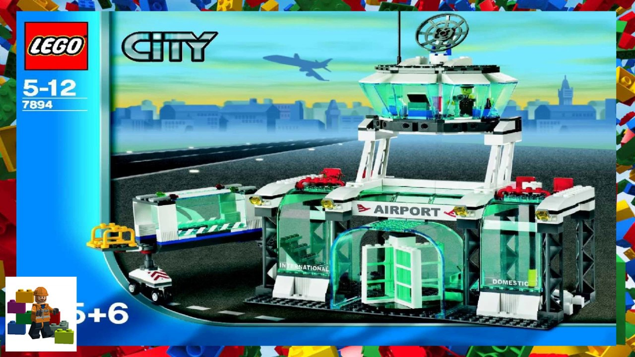 Lego Instructions City Airport 7894 Airport Book 3 Youtube
