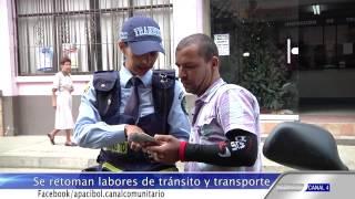 Transito de Ciudad Bolivar Antioquia Retoman Labores- informativo 27 feb-2015