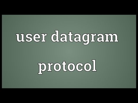 User datagram protocol Meaning