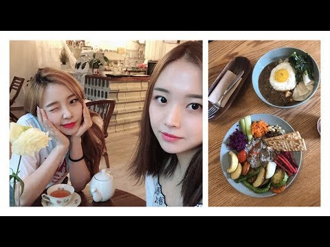 Vegan cafe in Seoul + Exploring Sharosugil // vlog #5