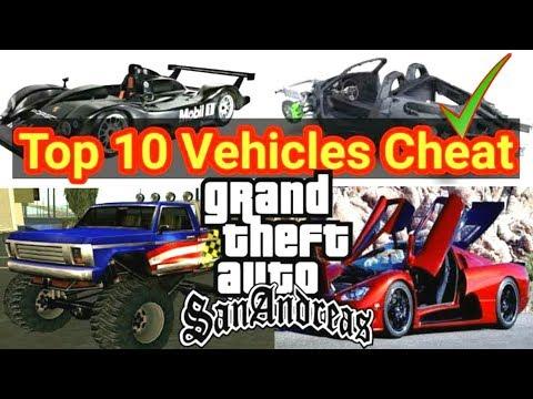 Top 10 Secret Cheats Of Vehicles In GTA San Andreas || GTA San All Secret Cars Cheats
