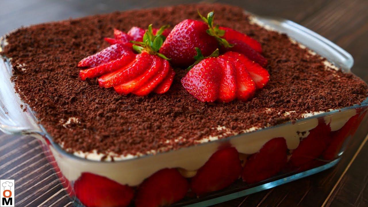 Клубничный ТОРТ БЕЗ ВЫПЕЧКИ с творожным кремом | Strawberry CAKE NO BAKING