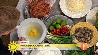 Så pocherar och friterar du ägg! - Nyhetsmorgon (TV4)
