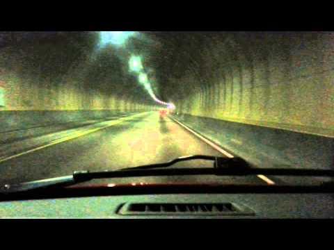 Atlantic Ocean tunnel (Norway) timelapse