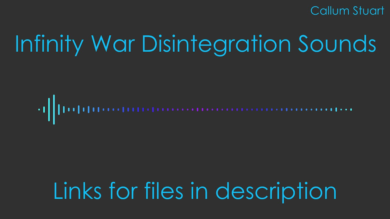 Infinity war disintegration sound effects