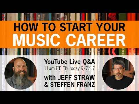 Live Q&A: How to Start Your Music Career | Thursday, Sept 7, 2017 | 11am PT