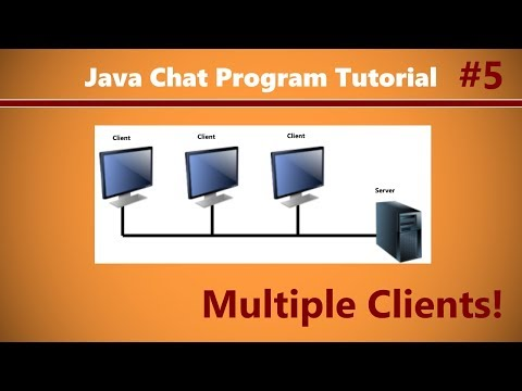 Java Chat Program Tutorial #5 Talking To Other Clients!