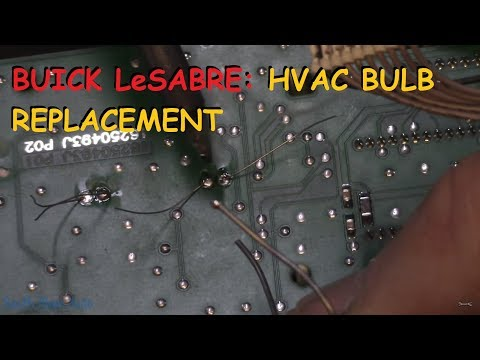 Buick LeSabre: HVAC Back Lighting Bulb Replacement