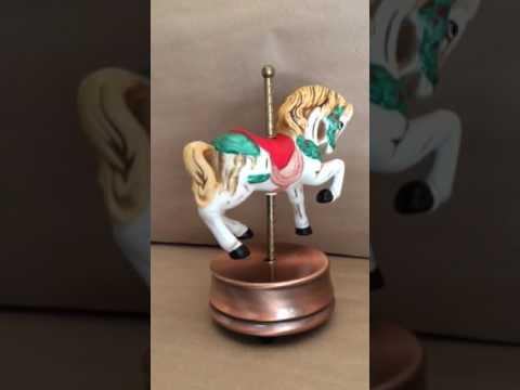 Musical Christmas Carousel Horse