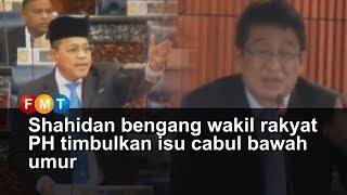 Shahidan bengang wakil rakyat PH timbulkan isu cabul bawah umur