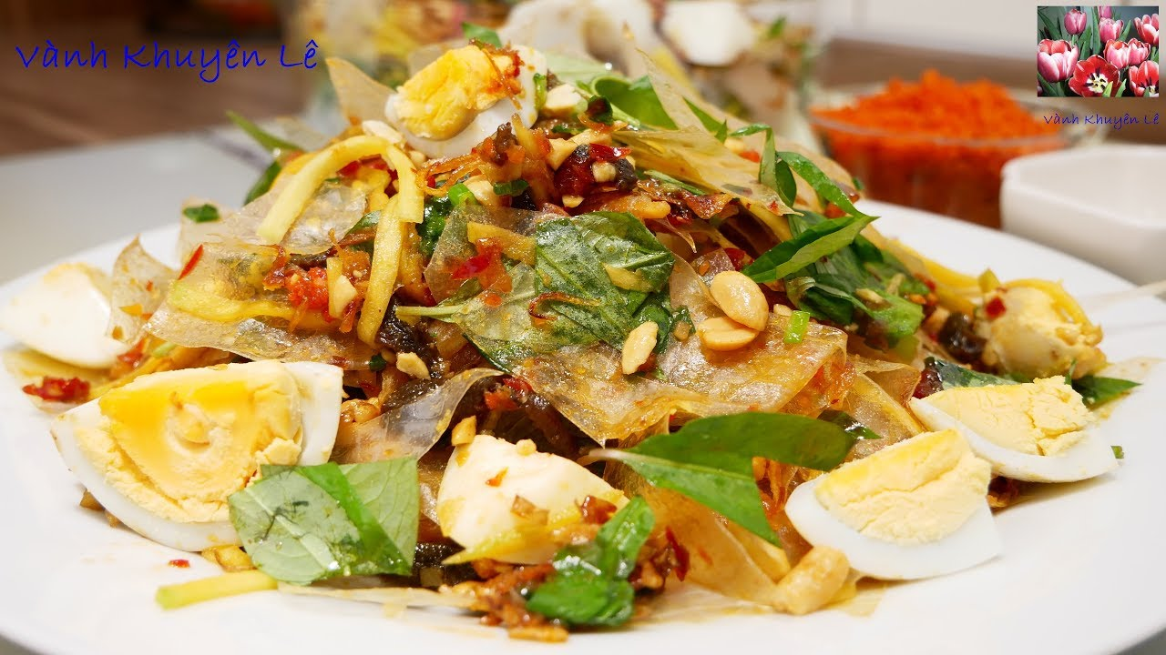 BÁNH TRÁNG TRỘN – A-Z cách làm Bánh Tráng trộn – Món ăn ngon, món ăn Vặt by Vanh Khuyen