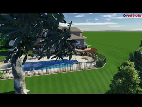 Muskego, WI  Inground pool Concept Video with Spillover Spa