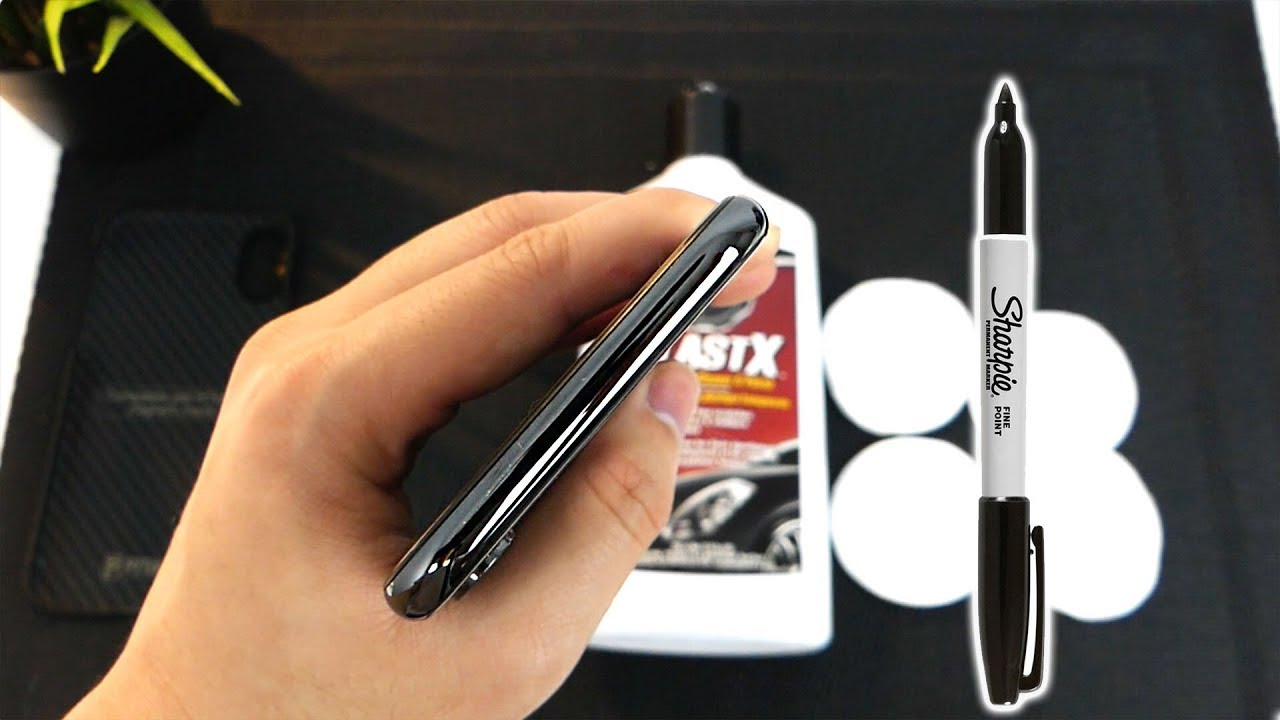 official photos 1ba2b fc949 How to Remove Scratches on Your Space Grey iPhone X Bezel
