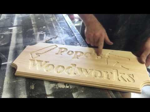 Making A Wooden Sign With A Router | First Time Making A Sign