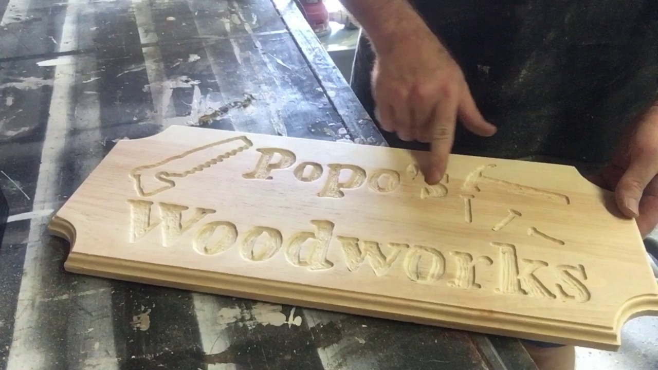 Making a Wooden Sign with a router | First time making a sign ...