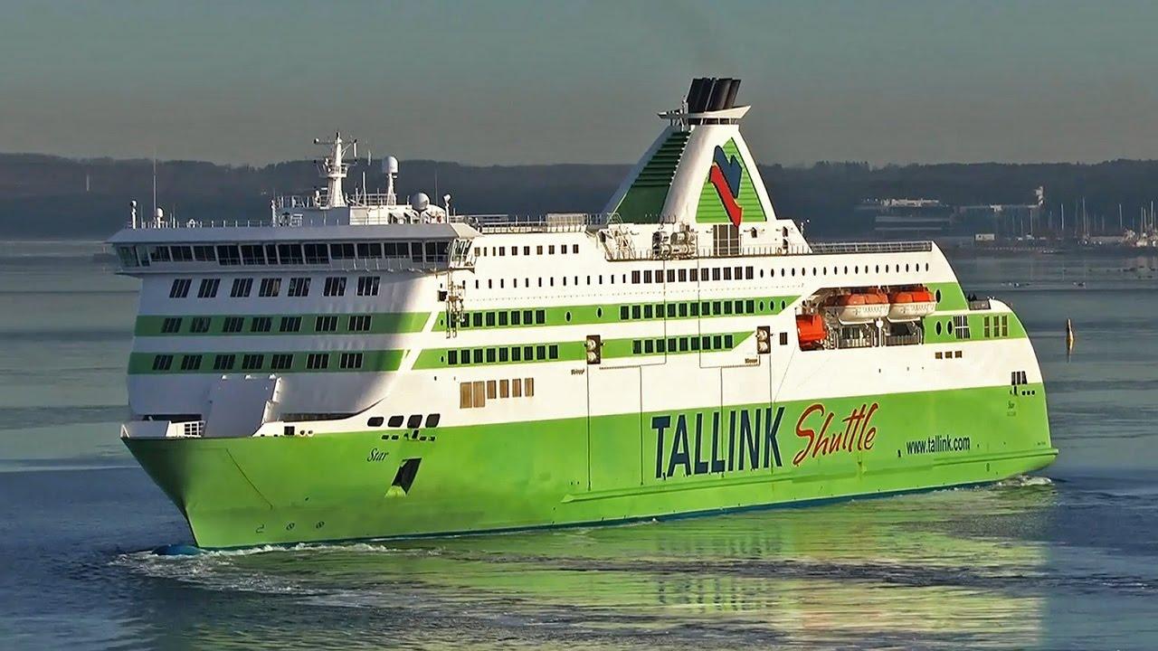 Tallink M/S Star Departure Port of Tallinn - YouTube