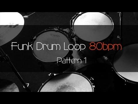 FUNK Drum Loop Practice Tool 80bpm Pattern 1