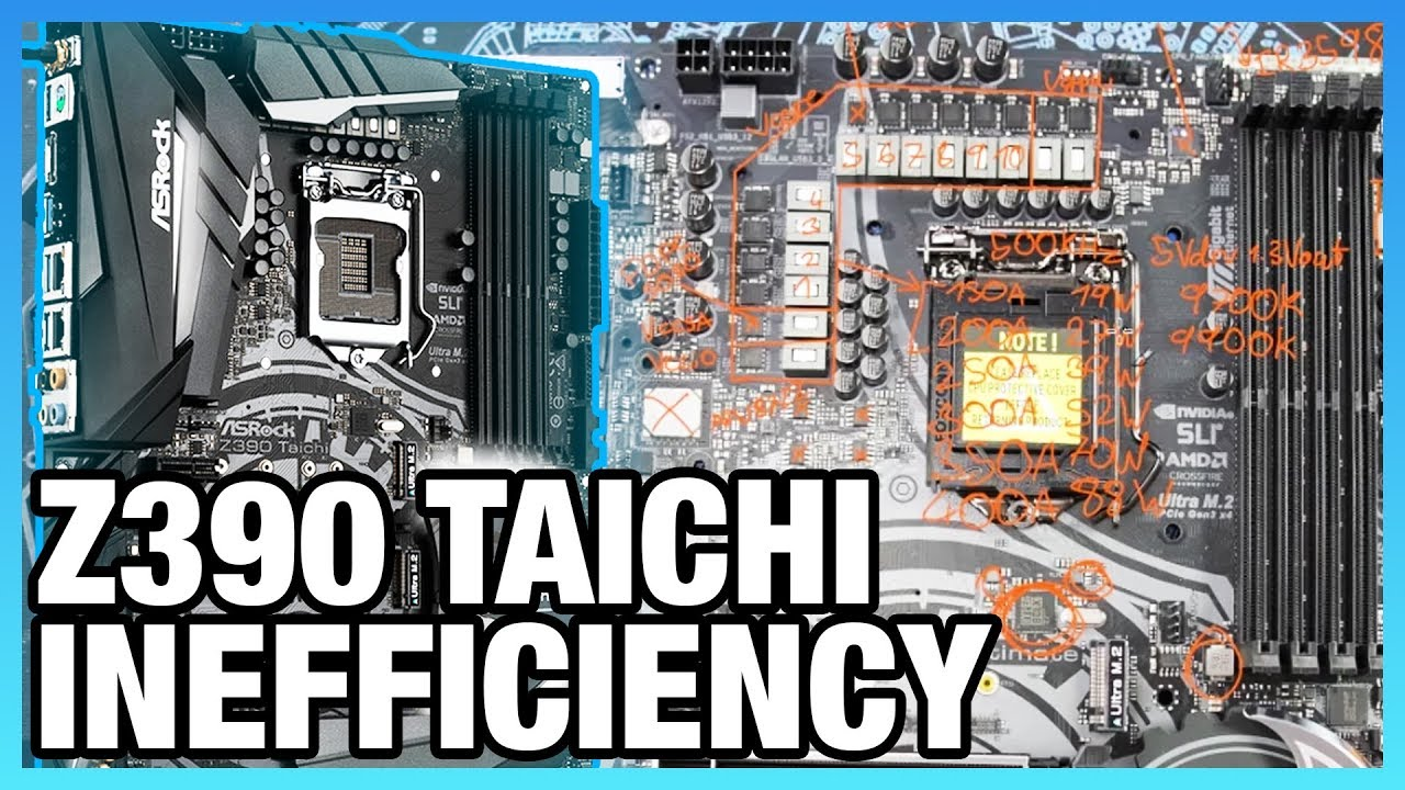 ASRock Z390 Taichi Ultimate's Lacking VCore VRM