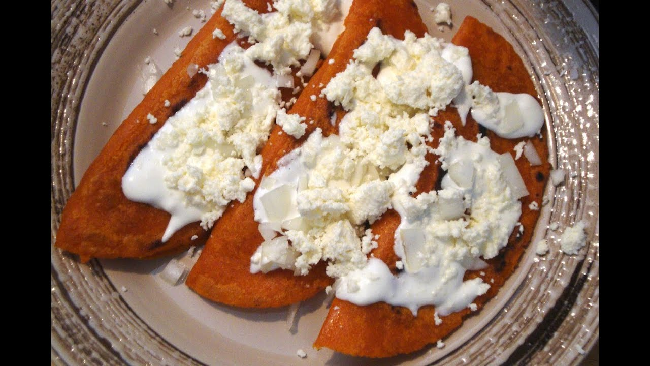 Receta de Enchiladas Potosinas  Comida mexicana  La