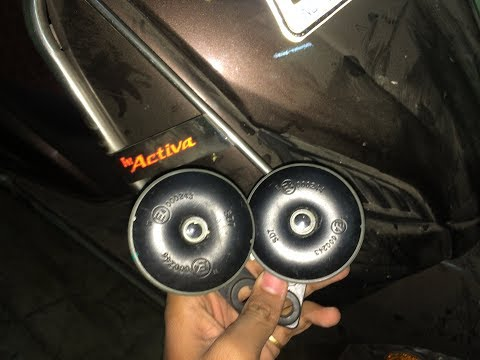 Pulsar 220 horn into activa how to fit dual / pair of Horn in scooty & in any bike