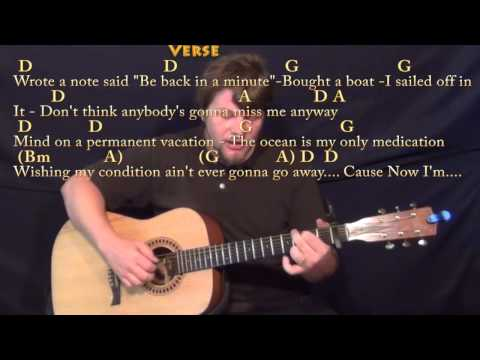 Knee Deep (Zac Brown) Fingerstyle Guitar Cover Lesson with Chords ...