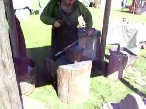 Iron age Celtic blacksmith demo