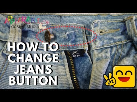 How To Replace A Jean Button [Easy Tip]
