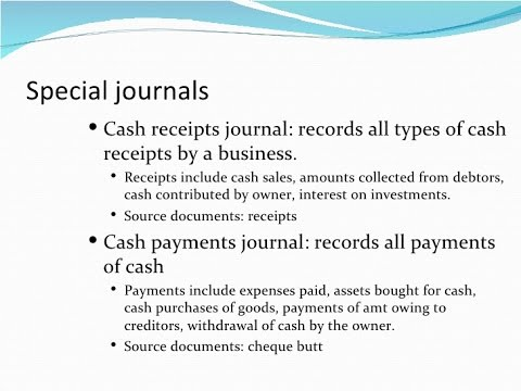 book of prime entry cash receipt cash payment journal youtube