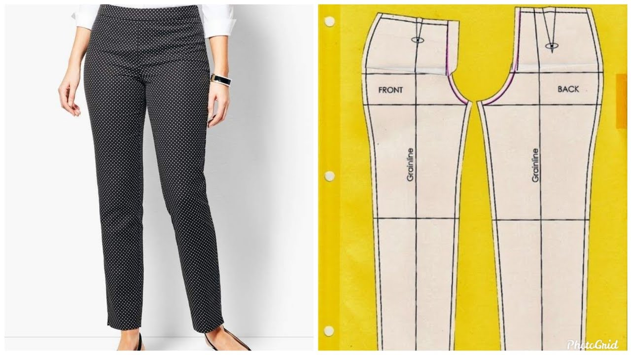 95993956 How to Cut Perfect Female Trousers/ Pants (Easy)