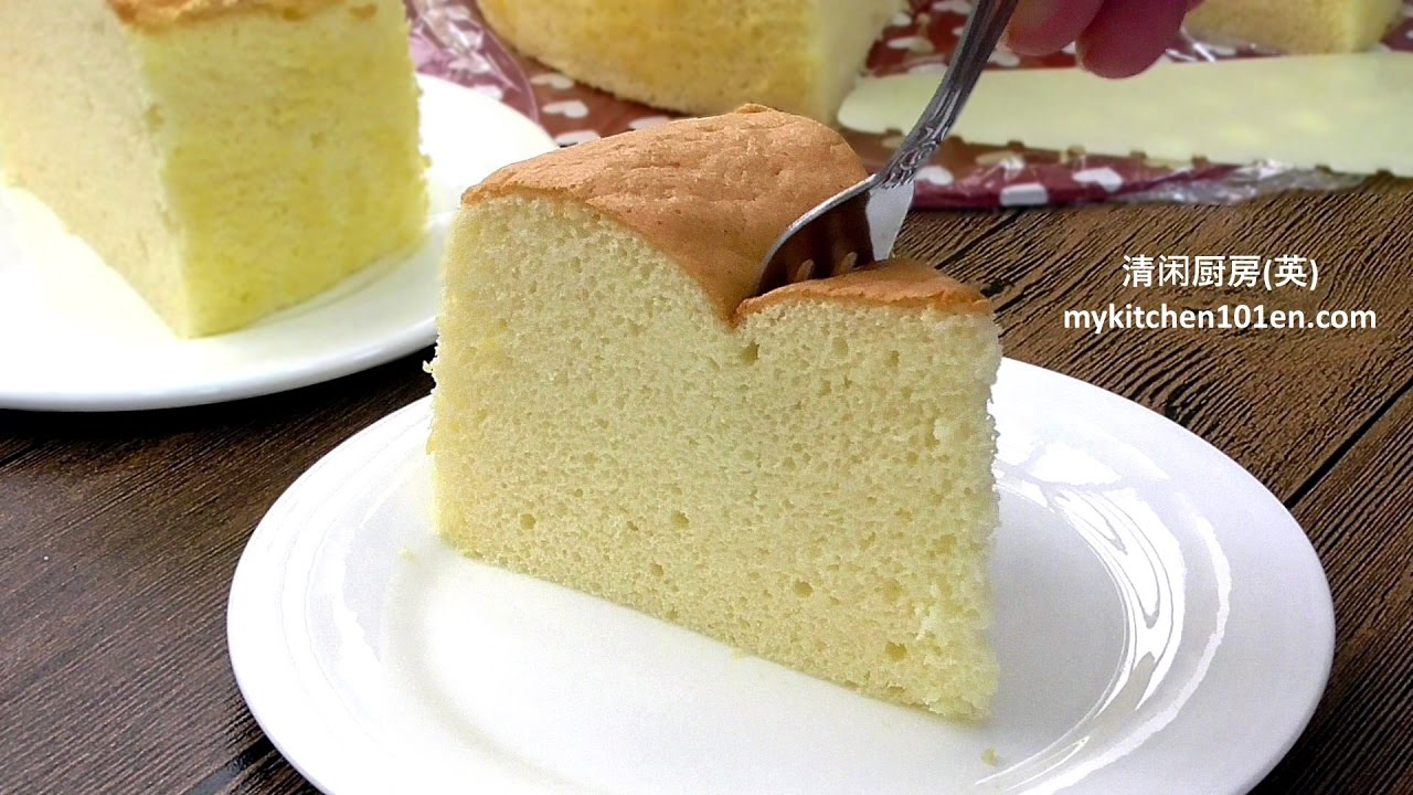 Japanese Sponge Cake Recipe Youtube: Basic Vanilla Sponge Cake