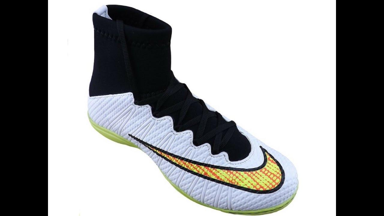e3ee69735 Chuteira Nike Mercurial Cano Alto Futsal (Branco