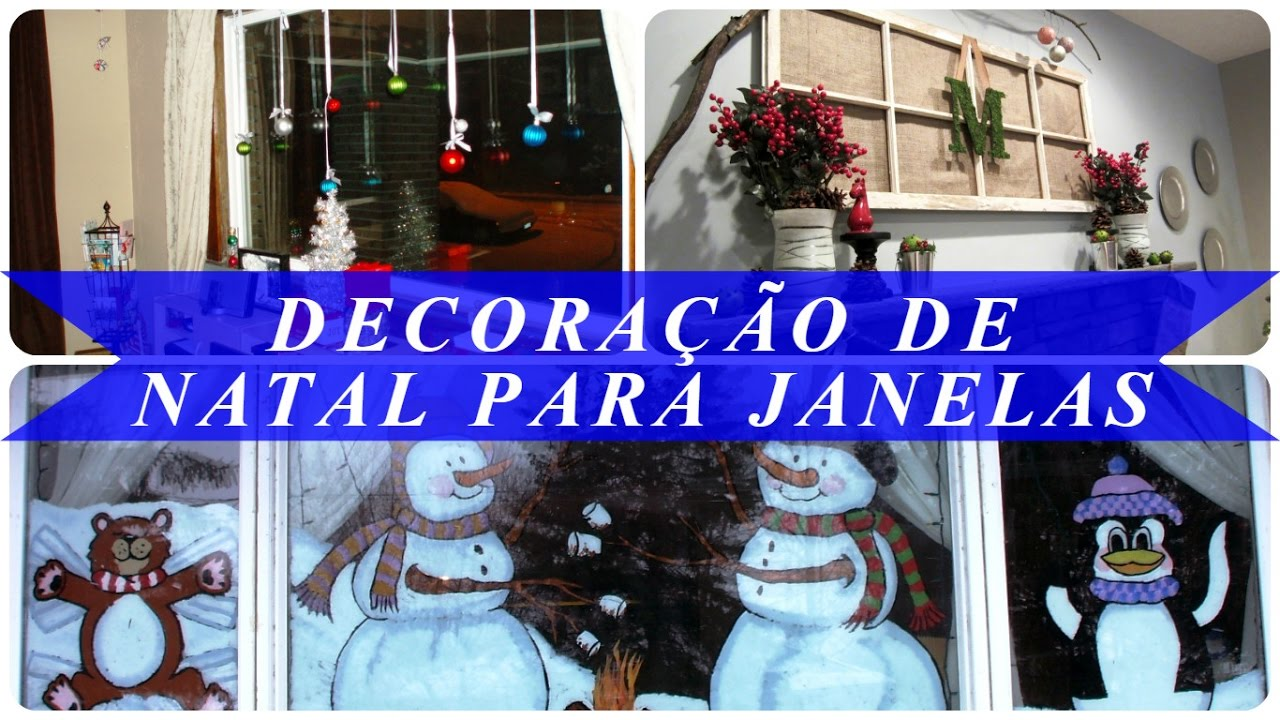 Decoraç u00e3o de natal para janelas YouTube