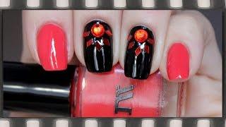 Красно-черный дизайн ногтей + Обзор лака Masura №904-76