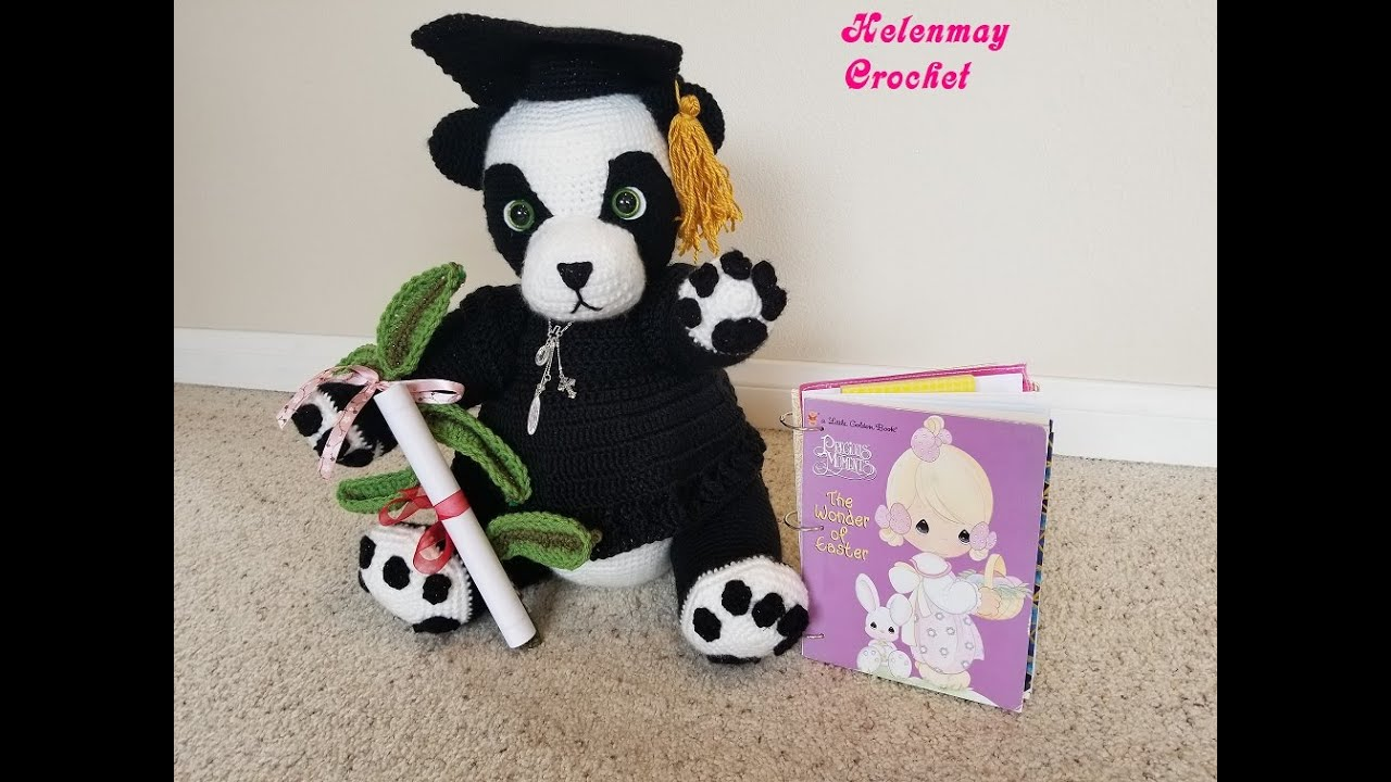 Momo the Panda Bear Amigurumi crochet pattern PDF | 720x1280