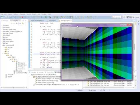 #4 Java Classical 3D Rendering Tutorial : Wall Texturing, Depth Buffering