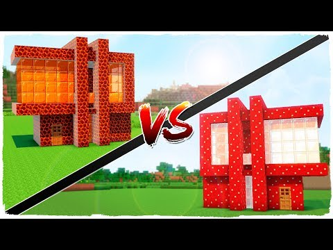 MUSHROOM house vs MAGMA house - MINECRAFT