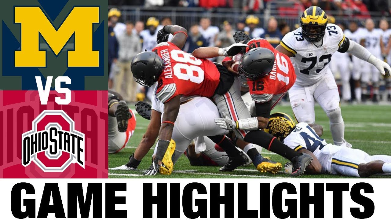 #3 Michigan vs #2 Ohio State | 2016 Game Highlights | 2010's Games of the Decade